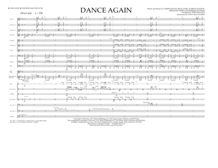 Dance Again - Full Score
