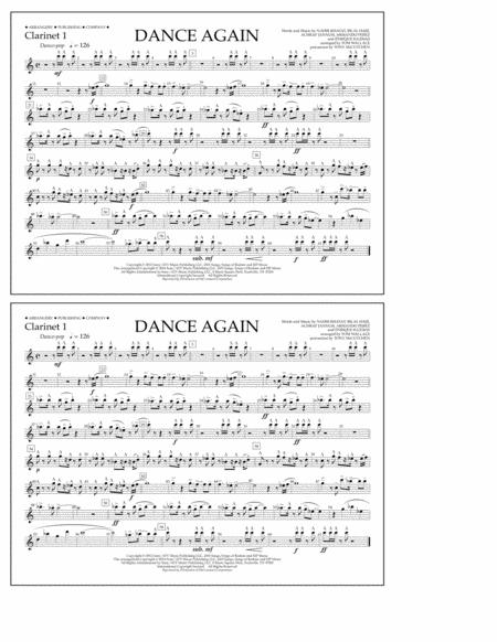 Dance Again - Clarinet 1