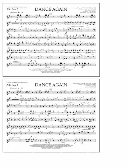 Dance Again - Alto Sax 2