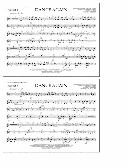 Dance Again - Trumpet 3