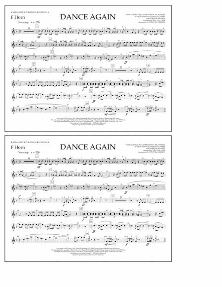 Dance Again - F Horn