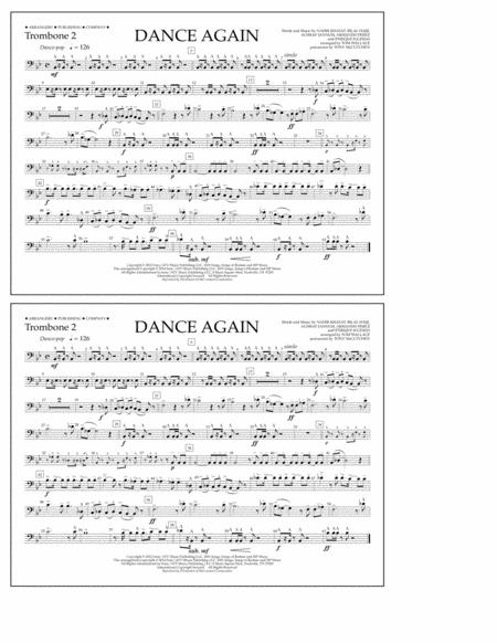 Dance Again - Trombone 2