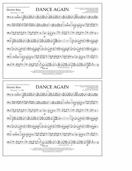 Dance Again - Electric Bass