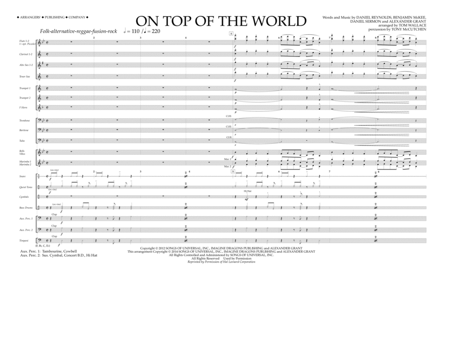 On Top of the World - Full Score
