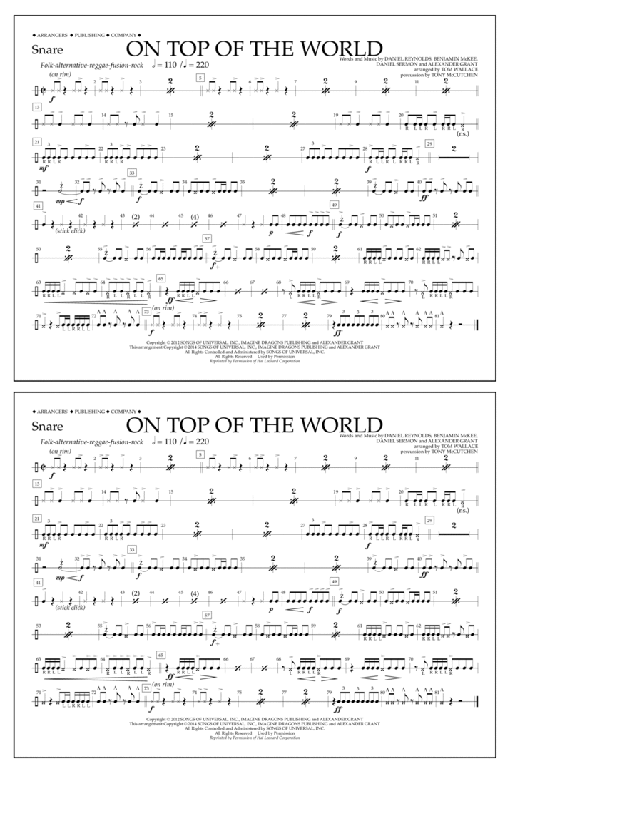 On Top of the World - Snare