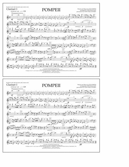 Pompeii - Clarinet 1