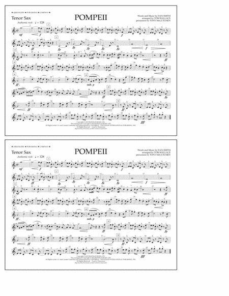 Pompeii - Tenor Sax