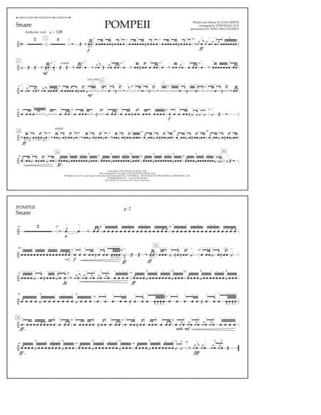 Drum drum tabs for radioactive : Pompeii Drum Sheet Music Free - free online snare drum sheet music ...