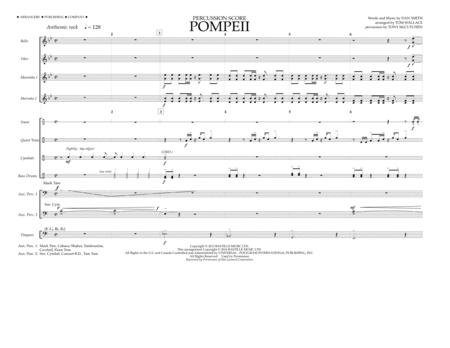 Pompeii - Percussion Score