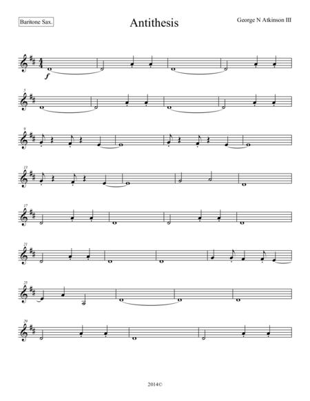 Antithesis Baritone Sax