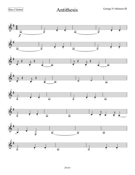 Antithesis Bass Clarinet