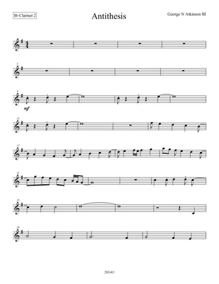 Antithesis Bb Clarinet 2