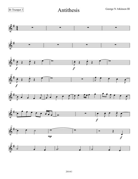 Antithesis Bb Trumpet 3