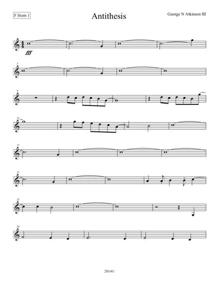 Antithesis F Horn 1