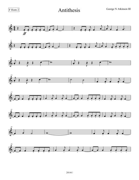 Antithesis F Horn 2