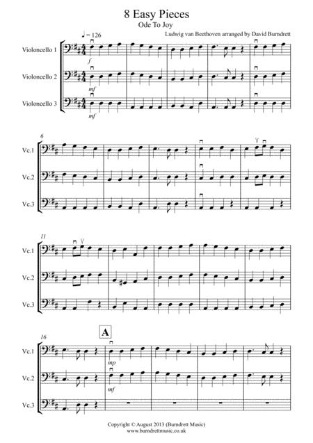 8 Easy Trios, for Cello