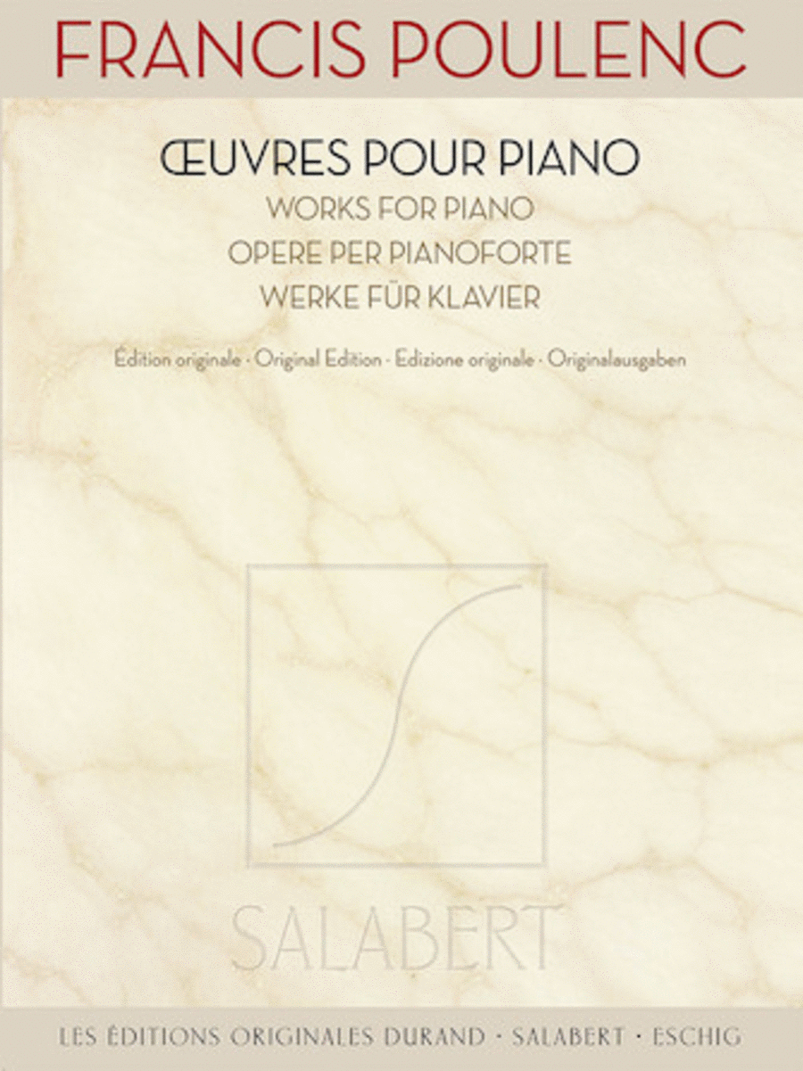 Francis Poulenc - Works for Piano