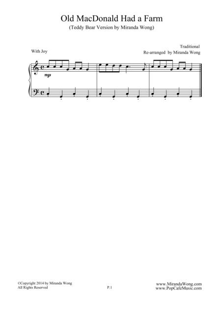 Old Macdonald Had A Farm - Easy Piano Solo