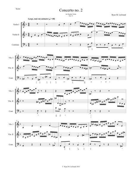 Concerto no. 2, Op. 21 - for two Violins