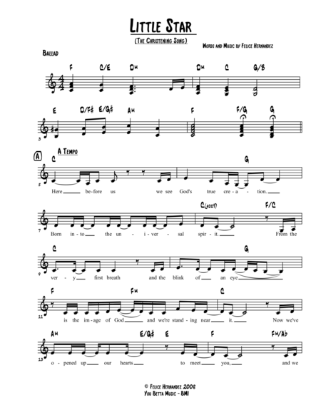 Little Star (The Christening Song)