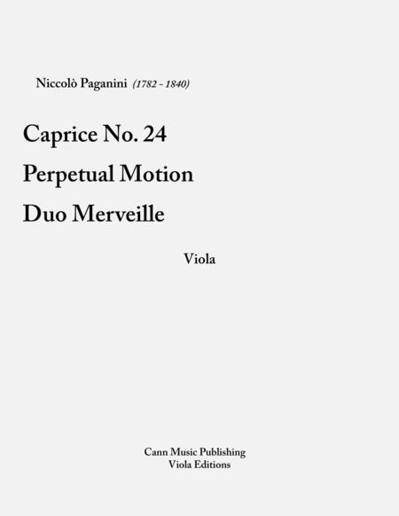 Niccolo Paganini: Collection for Viola