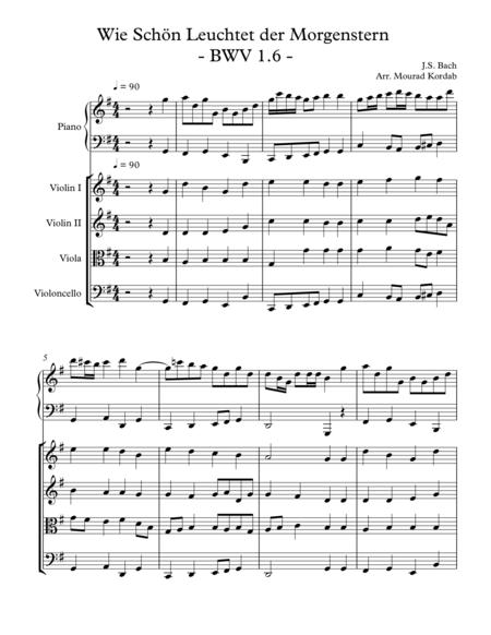 Wie Schon Leuchtet der Morgenstern  - BWV 1.6