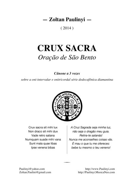 Crux Sancta, twelve-tone canon for 3 equal voices