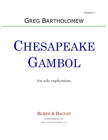Chesapeake Gambol for solo euphonium