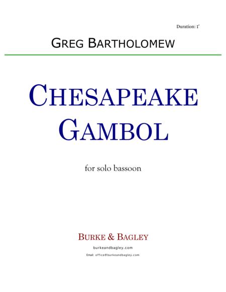 Chesapeake Gambol for solo bassoon