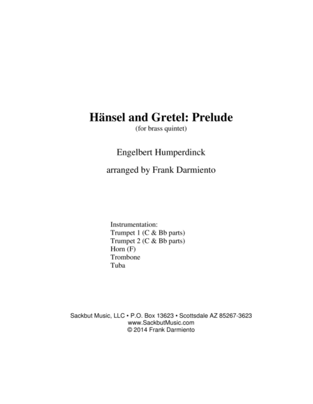 Hansel and Gretel: Prelude