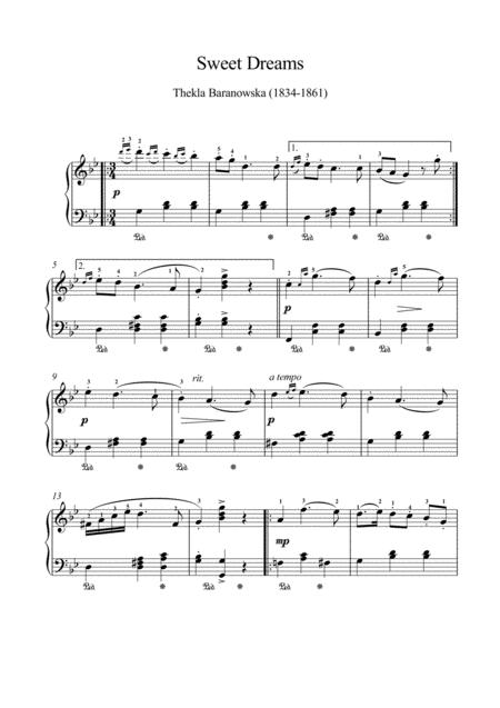 Sweet dreams by Tekla Baranowska (1834-1861)