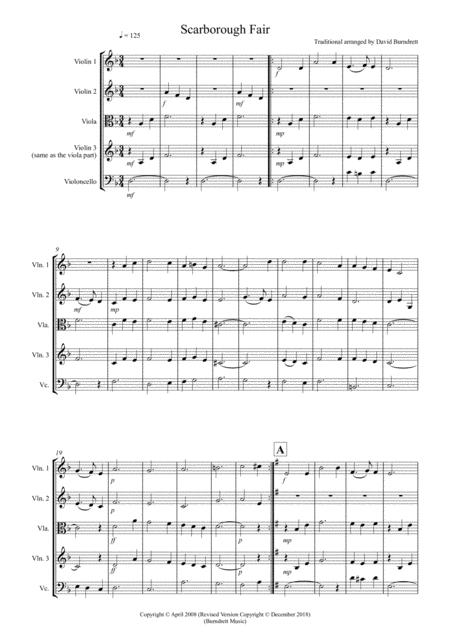 Scarborough Fair for String Quartet