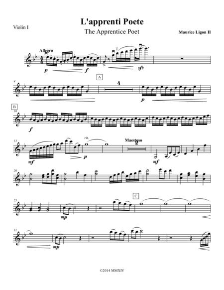 L'apprenti Poete - Violin 1