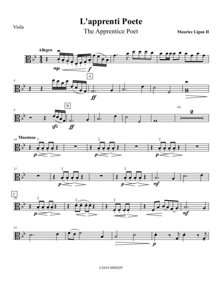 L'apprenti Poete - Viola Part