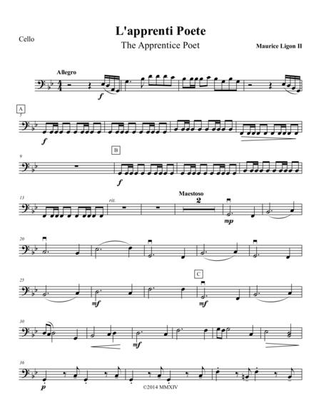 L'apprenti Poete - Cello Part