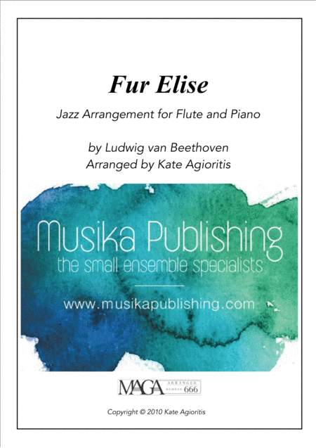 Fur Elise - a Jazz Arrangement for Flute and Piano