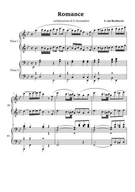 Romance per pianoforte a 4 mani