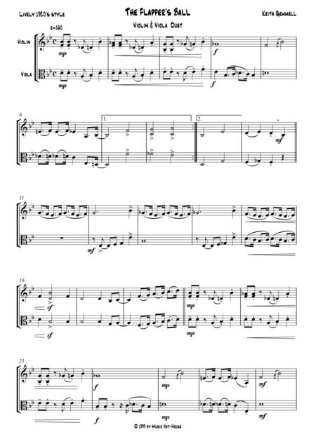 The Flapper's Ball: Violin & Viola Duet