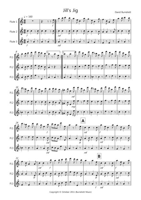 Jill's Jig for Flute Trio