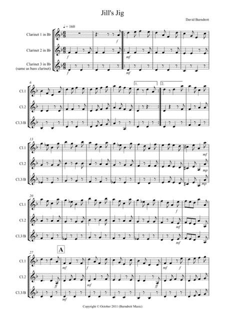 Jill's Jig for Clarinet Trio
