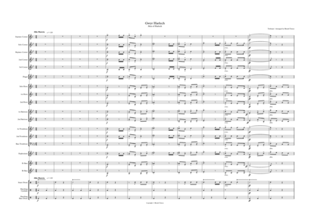 Men of Harlech (Gwyr Harlech). Brass band arrangement.