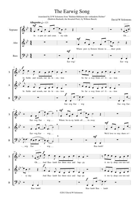 The Earwig Song