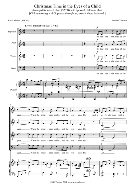 Christmas Time in the Eyes of a Child - Version for Mixed Choir (SATB) with optional Children's Choir