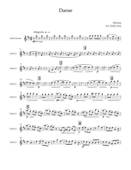 Danse for Clarinet Choir (Parts)
