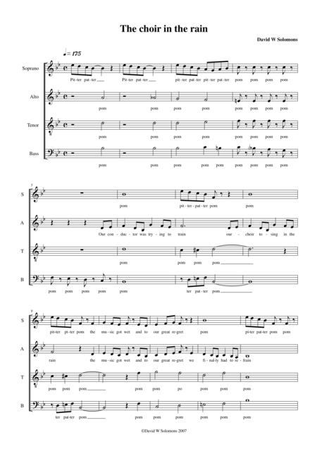 The choir in the rain (SATB)