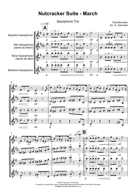 Nutcracker Suite -March: Saxophone Trio