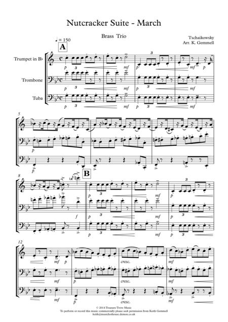 Nutcracker - March: Brass Trio