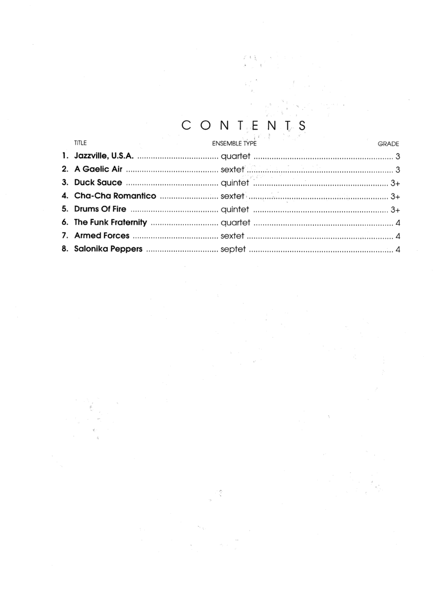 More Contest Ensembles For Intermediate Percussionists - Full Score