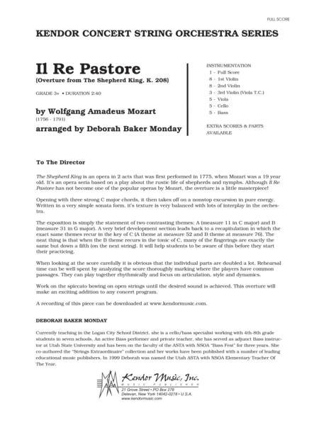 Il Re Pastore (Overture from The Shepherd King, K. 208) - Full Score