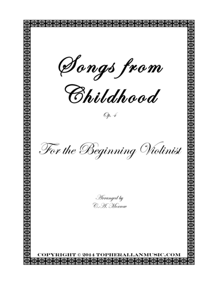 Songs from Childhood - For the Beginning Violinist